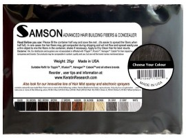 Samson Keratin Hair Fibers 25g Refill Bag - Choose Your Colour Below