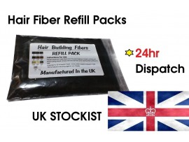 50g Black  - 100% Natural Keratin Hair Fibres Refill For Hair Loss