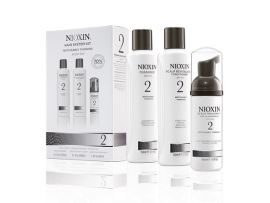 Nioxin 3 Part System Kits - System Kit 2 - Cleanser, Scalp Therapy & Scalp Treatment