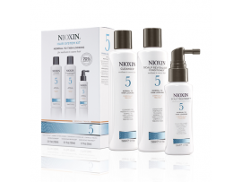Nioxin 3 Part System Kits - System Kit 5 - Cleanser, Scalp Therapy & Scalp Treatment