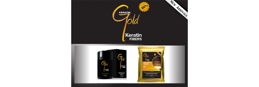 Keratin Gold Hair Fibres
